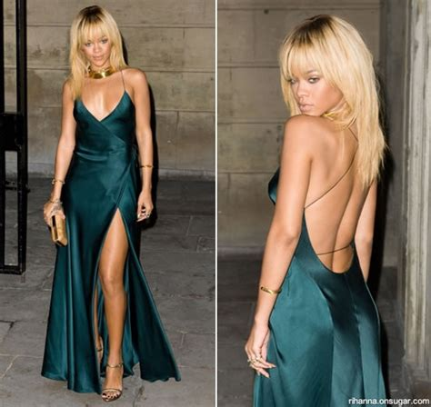 Longdress Diana Back rihanna in armani at stella mccartney dinner haus of rihanna