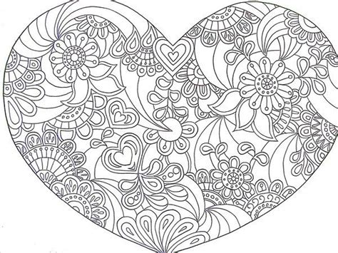 complex heart coloring page printable coloriages coeurs