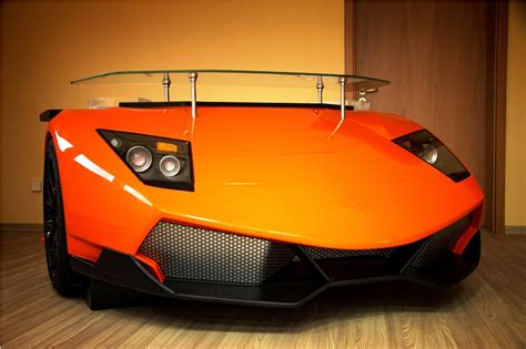 For The Man Who Has Everything A Lamborghini Desk Car Office Desk