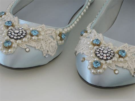 Blue Wedding Flats by Something Blue Bridal Ballet Flats