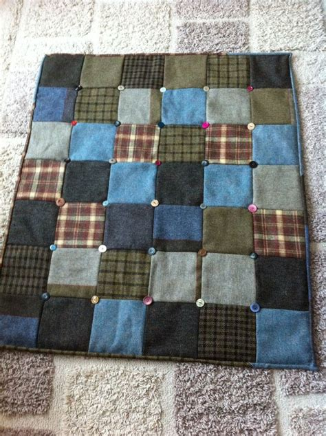 What Is Patchwork Used For - tweed quilt with buttons i m going to sew that