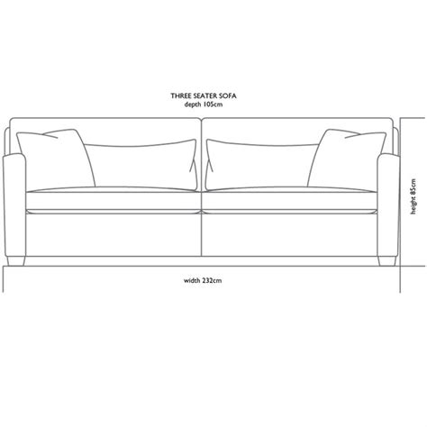 3 seat sofa size thesofa