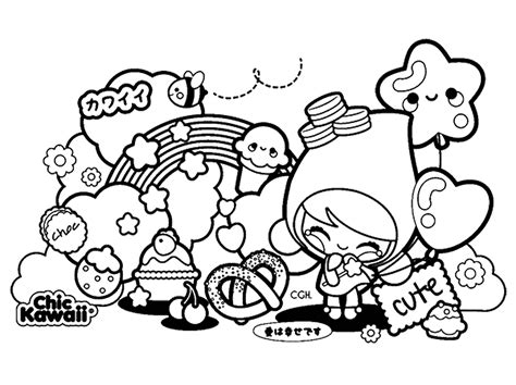 Kawaii Drawings Coloring Pages