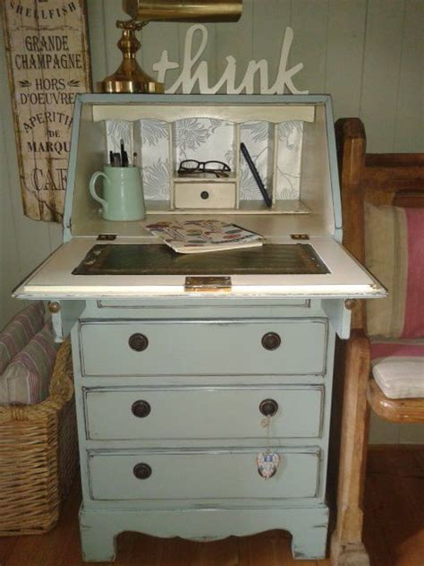 vintage shabby chic painted bureau writing computer desk