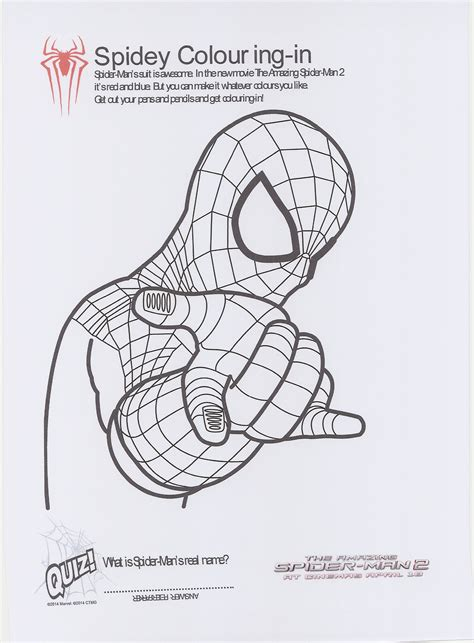 free coloring pages of amazing spiderman2 1