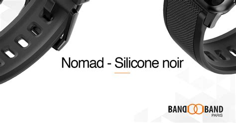 Nomad Sport Apple 42mm Band Silicone Black Grey nomad silicone noir apple band band