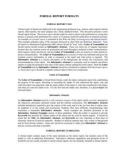 14 Formal Business Report Exles Pdf Doc Pages How To Write A Formal Business Report Template