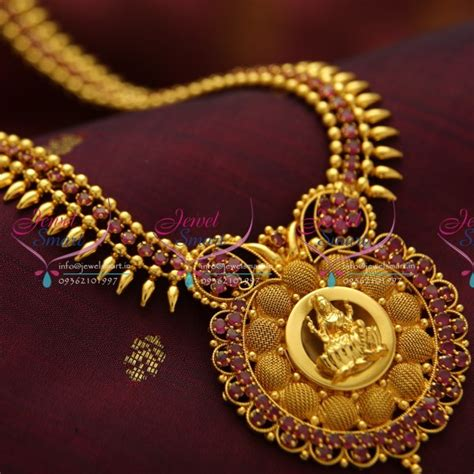 design necklace online nl3781 beads design ruby temple pendant gold plated haram