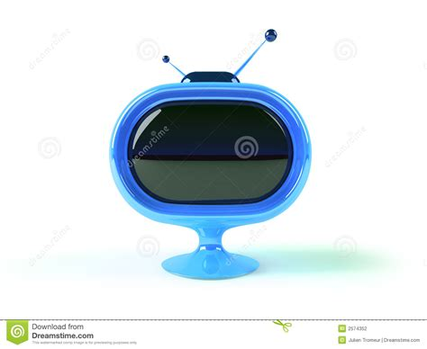 retro futuristic tv stock illustration illustration  retro
