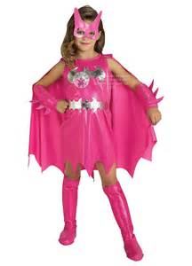 Pink batgirl costume child party britain fancy dress