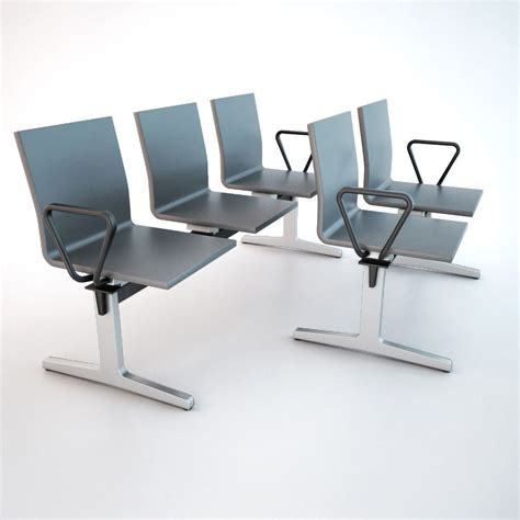 waiting area chairs 3d model vitra waiting chair 3d model max obj fbx cgtrader