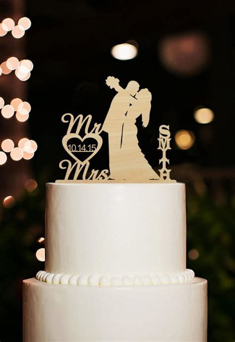 Wedding Last by Mr And Mrs Wedding Cake Topper Silhouette And Groom