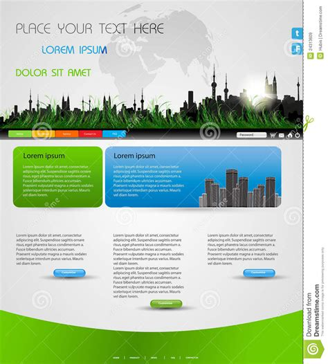 web page design layout free web page nature layout stock vector image of