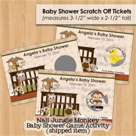 Baby Shower Scratch Tickets by Jungle Monkey Baby Shower Scratch Card Ticket