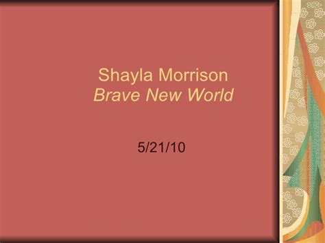 themes used in brave new world brave new world powerpoint 2