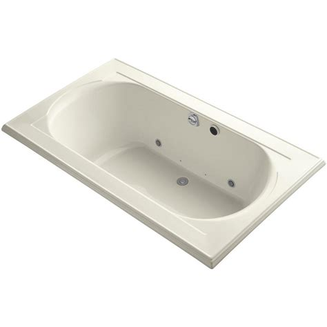 air bathtub kohler memoirs 6 ft air bath tub in biscuit k 1418 gcr 96