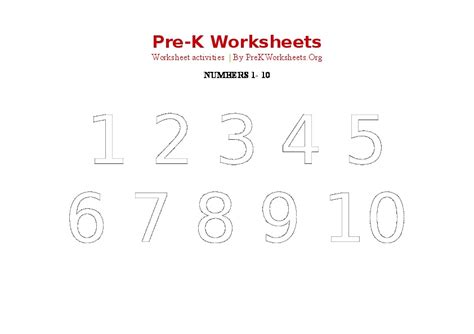 worksheets for pre k numbers number 10 worksheet pre k page 2 new calendar template site