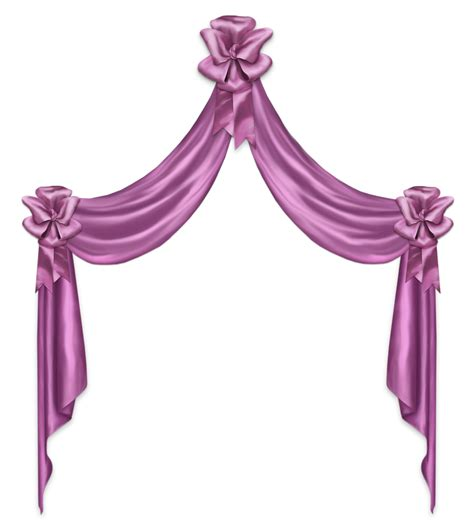 Bow Curtains Pink Decor Curtain Png Clipart Picture Gallery