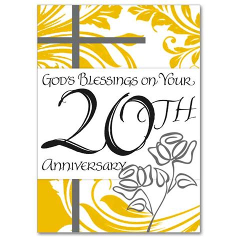 god s blessings on your 20th anniversary 20th wedding anniversary card