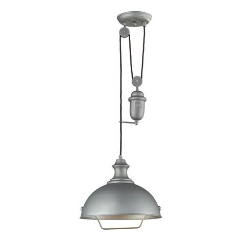 Farmhouse Ceiling Lights Titan Lighting Farmhouse 1 Light Aged Pewter Ceiling Mount Pendant Tn 10147 The Home Depot
