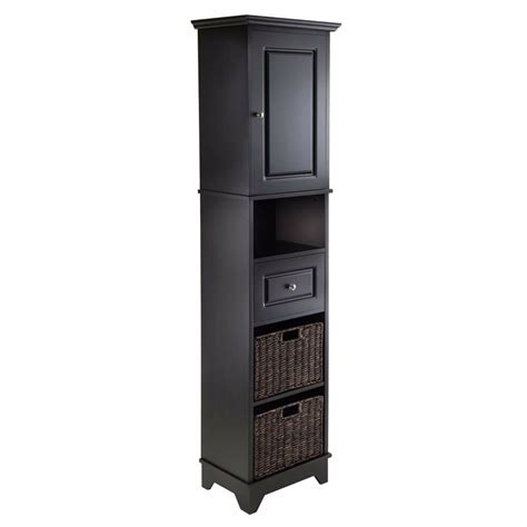 black bathroom storage cabinet black linen tower bathroom cabinet storage furniture laundry organizer ebay