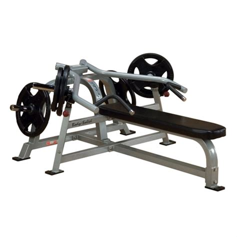 plate loaded bench press body solid leverage horizontal bench chest press plate