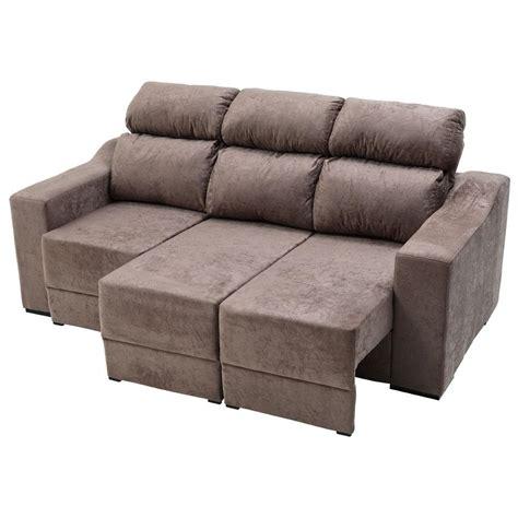 sofa retratil e reclinavel sof 225 3 lugares malta master com assento retr 225 til e encosto
