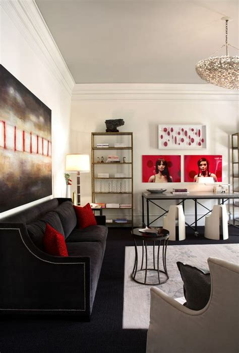 living room with red accents decorating with red grey ideas inspiration