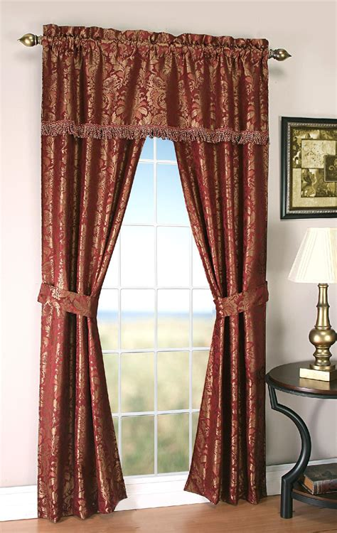 amore 54x84 window set with attached valance kmartcom amore 54x84 window set with attached valance and tie backs