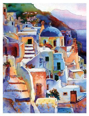 paint with a twist greece greece watercolor projets d