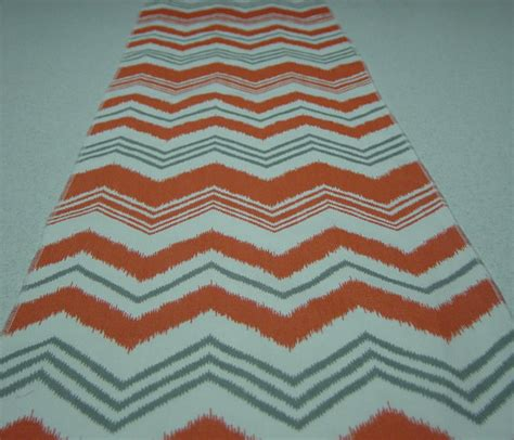 zig zag table runner coral gray and white zig zag table runner