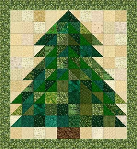 christmas tree rag quilt pattern lj pinterest ideas