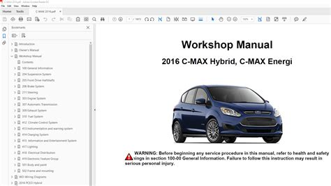 free download parts manuals 2013 ford c max hybrid user handbook ford c max 2013 2018 factory repair manual