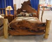 Rustic Wood Bed Frames Canada Rustic California King Size Platform Bed Frame With