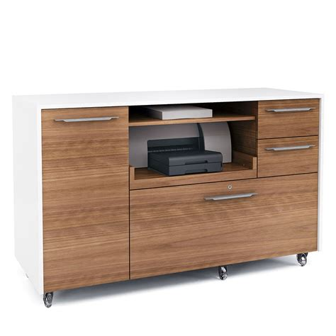mobile credenza format walnut modern mobile credenza by bdi eurway