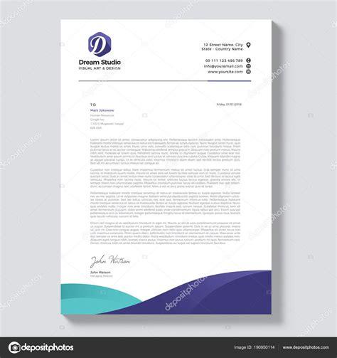 professional letterhead template vector stock