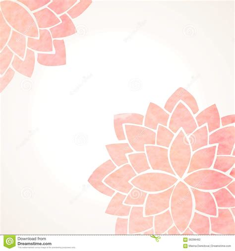 free lotus background pattern watercolor pink floral background stock vector