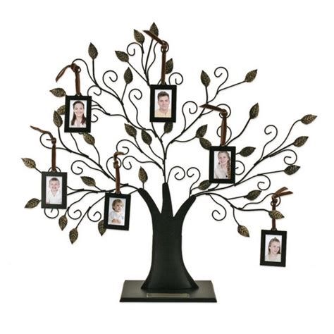 family tree with 6 hanging frames