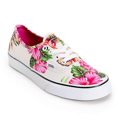 hawaiian shoes vans authentic hawaiian floral shoes womens at zumiez pdp