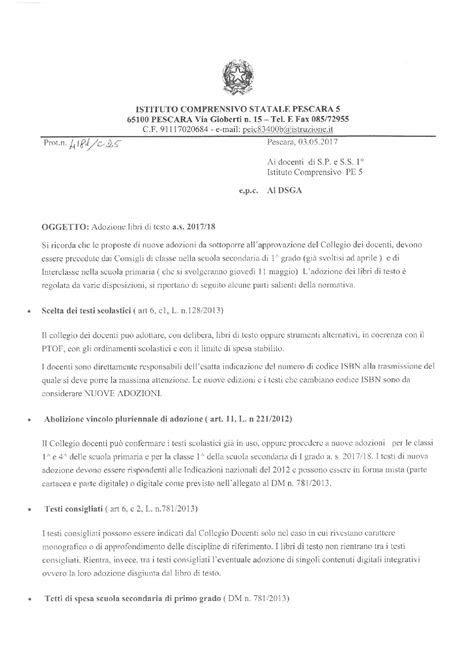 adozione libri di testo adozione libri di testo a s 2017 2018 istituto