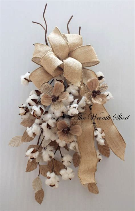 xmas floral decoration using cotton stalks 25 best ideas about door swag on door swag tutorial wreaths to make and
