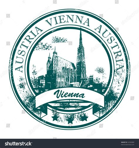 Grunge Rubber St St Stephens Cathedral Stock Vector