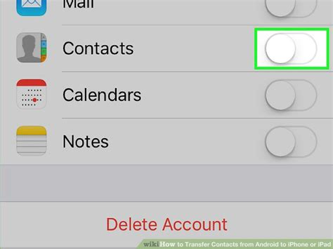 how to transfer contacts from android to iphone or