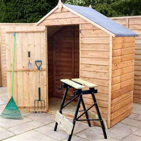 3x6 Shed 3x6 Garden Shed Apex Wooden Sheds Windowless Overlap Clad