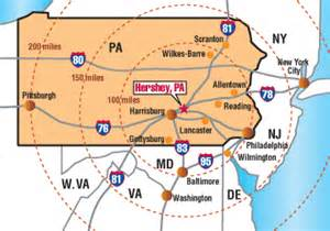 Hershey Pennsylvania Map by Hotel Information