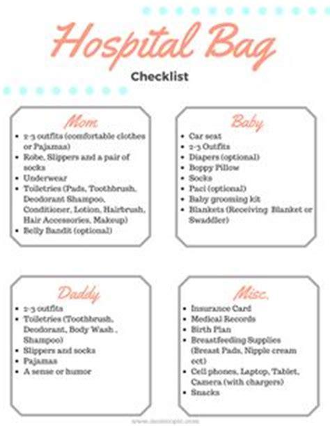 hospital bag checklist for c section printable maternity hospital bag checklist bags births