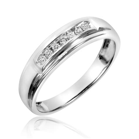 1 8 carat t w his and hers wedding band set 10k
