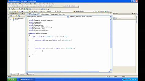 tutorial asp net c sharp c sharp asp net tutorial 1 connecting to a sql database