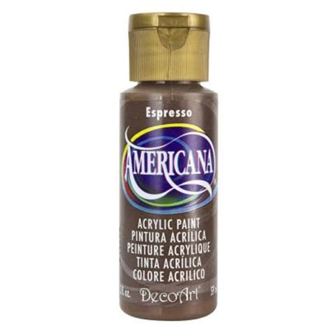 decoart americana 2 oz espresso acrylic paint da271 3 the home depot