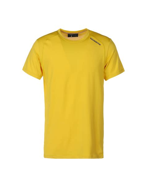 design t shirt adidas porsche design sport by adidas t shirt in yellow for men
